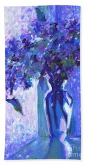 Lilac Rain  Beach Towel
