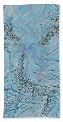 Beach Towel featuring the mixed media Lilac Sunstones by Angela Stout