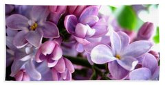 Lilacs Beach Towel