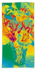 Lilies #3 Beach Towel