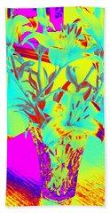 Lilies #4 Beach Towel