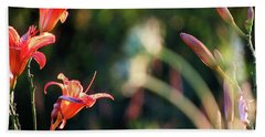Lilies Bloom In The Forest Beach Towel