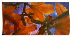 Star Gazing Lilies Beach Towel