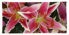 Lilies Beach Towel by Tim Townsend