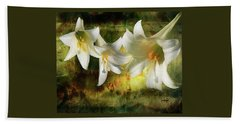Lilies With Light Beach Towel
