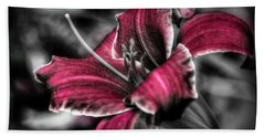 Beach Towel featuring the photograph Lilly 3 by Michaela Preston