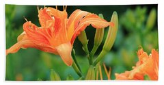 Lily Of The Evening Beach Towel
