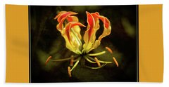 Flame Lily Art Beach Towel