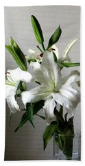 Lily Flower Beach Towel