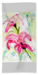 Lily Folly Beach Towel