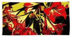 Beach Towel featuring the digital art Lily Gem by Winsome Gunning