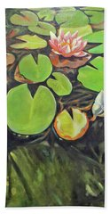 Lily In The Water Beach Towel