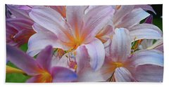 Lily Lavender Closeup Beach Towel
