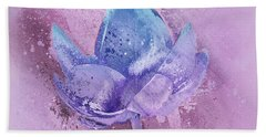 Beach Towel featuring the digital art Lily My Lovely - S113sqc77 by Variance Collections