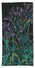 Beach Towel featuring the mixed media Lily Of The Nile  by Vicki  Housel