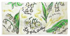 Beach Towel featuring the painting Lily Of The Valley by Monique Faella