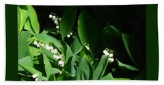 Lily Of The Valley Beach Towel by Patricia Overmoyer