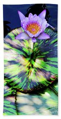 Lily Pad And Lily Beach Towel