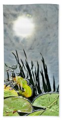 Lily Pad Reflection Beach Towel