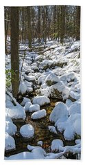 Lily Pads Of Snow Beach Sheet by Angelo Marcialis