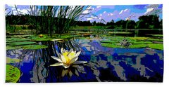 Lily Pond Beach Towel by Charles Shoup