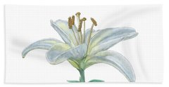 Lily Watercolor Beach Towel