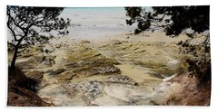 Lime Bay Tasmania 5 Beach Towel by Lexa Harpell