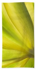 Lime Tulip Beach Towel