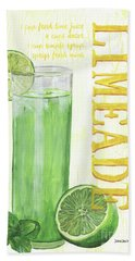 Beach Towel featuring the painting Limeade by Debbie DeWitt