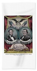 Lincoln And Johnson Election Banner 1864 Beach Towel