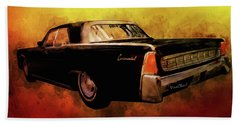 Lincoln Continental Shrine To Understated Good Looks Beach Towel