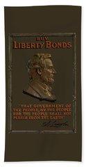 Lincoln Gettysburg Address Quote Beach Towel