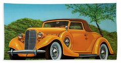 Lincoln K Convertible 1935 Painting Beach Towel