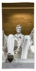 Lincoln Memorial 2 Beach Towel