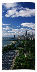 Lincoln Park And Diversey Harbor Beach Towel