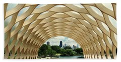 Beach Towel featuring the photograph Lincoln Park Zoo Nature Boardwalk Panorama by Kyle Hanson