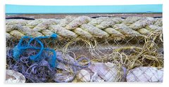 Beach Towel featuring the photograph Line Of Debris II by Stephen Mitchell