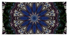 Line Up Kaleidoscope Beach Towel by Judy Wolinsky