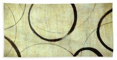 Beach Sheet featuring the painting Linen Ensos by Julie Niemela