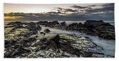 Lines Of Time Beach Towel by Mark Lucey