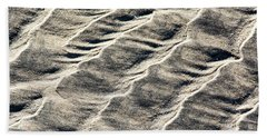 Lines On The Beach Beach Towel