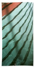 Lines On The Water Beach Towel