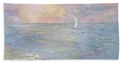 Beach Towel featuring the painting Lingering Freedom by Judith Rhue