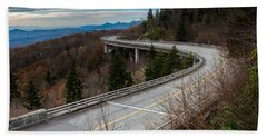 Linn Cove Viaduct Late Fall Beach Towel
