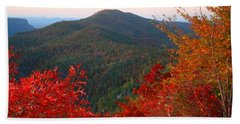 Beach Towel featuring the photograph Linville Gorge by Kathryn Meyer
