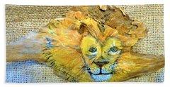 Lion Beach Towel by Ann Michelle Swadener