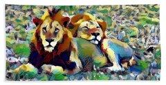 Lion Buddies Beach Towel