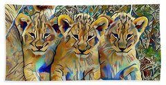 Lion Cubs Beach Sheet