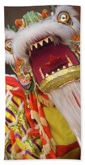 Lion Dance Beach Towel