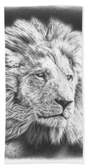 Fluffy Lion Beach Towel